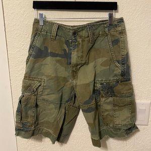 American Eagle army camo cargo shorts